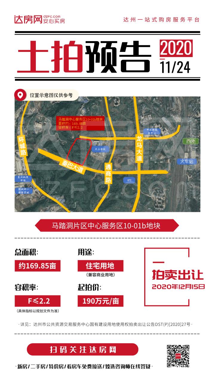 【土地】马踏洞片区中心服务区10-01b地块(12月15日拍))