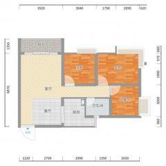 金地花园 3室 92.96㎡ 66万 高档装修